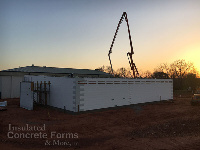 Chandler OK High School Tornado Safe Room and Multi-purpose ICF Building with Quad-Lock ICF by ICF & More OKC - Concrete Pour