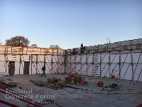 Chandler OK High School Tornado Safe Room and Multi-purpose ICF Building with Quad-Lock ICF by ICF & More OKC - Ready to Pour Concrete