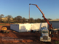 Chandler OK High School Tornado Safe Room and Multi-purpose ICF Building with Quad-Lock ICF by ICF & More OKC - Pouring Concrete