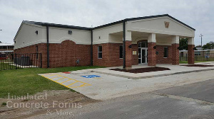 ICF Community Safe Room for Wayne Oklahoma using Logix ICF System - Image 2