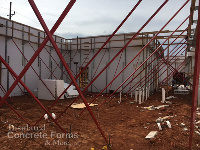 22 foot walls with Tall Wall Bracing for Jackson Elementary School Tornado Safe Room in Norman OK using Fox Blocks ICF