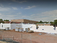 ICF Walls being placed for the 4800 sqft Tornado Safe Room for Jackson Elementary School n Norman OK with Fox Blocks ICF