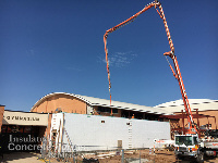 Concrete pour for ICF Walls at Putnam City High School Safe Room in Oklahoma City OK