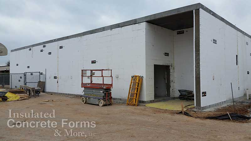 Quad-Deck 6,000sqft Safe Room for Lake Park Elementary School in Bethany OK - ICF & More OKC