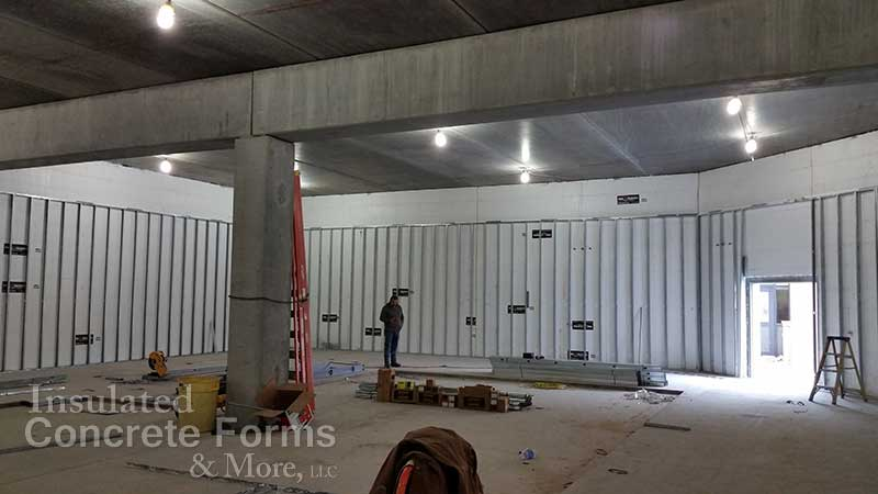 Tornado safe room projects oklahoma construction photos for Icf insulated concrete forms