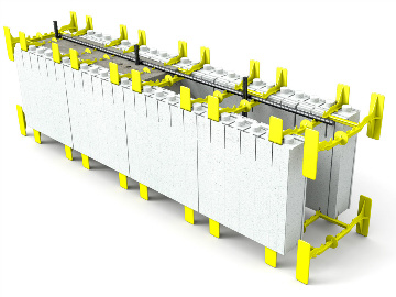 Quad-Lock Insulating Concrete Forms ICF Panel System with Rebar & Concrete Graphic