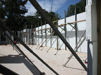 Quad-Lock Insulated Concrete Forms IBHS Fortified for Safer Living Hurricane Rated Home, wall bracing image, in Fairhope, AL - ICF & More, OKC