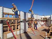 Quad-Lock ICF Elmegreen Home in OKC - Pouring Concrete