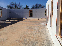 Quad-Lock 2800sqft ICF Home in OKC with lots of Windows - great job site