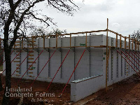 Quad-Lock ICF Walls & Bracing for the Tornado Safe Room for Girl Scouts of Western Oklahamo at Camp Ekowah by ICF & More OKC