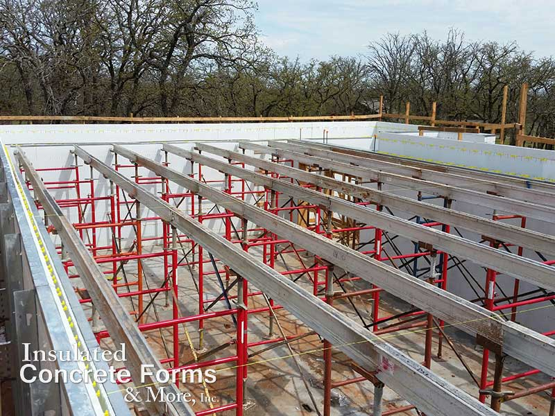 Shoring for Quad-Deck Concrete Roof for the Tornado Safe Room for Girl Scouts of Western Oklahamo at Camp Ekowah by ICF & More OKC