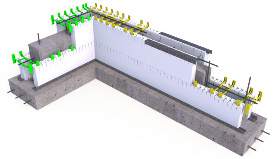 Quad-Lock Insulating Concrete Forms ICF Wall Construction Graphic