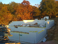Quad-Lock and Quad-Deck Extremely Energy Efficient with Cantilvered ICF roof and tall walls - exterior walls image, in Portage, WI - ICF & More, OKC