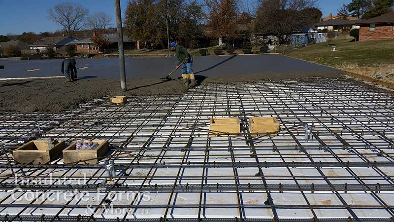 Concrete pour for Quad-Deck roof for Ada High School ICF Safe Room - ICF & More OKC