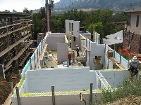 Quad-Lock & Quad-Deck Insulating Concrete Forms Eco Luxury Zero Energy ICF & SIPS Sustainable Home, wall construction, in Boulder, CO - ICF & More, OKC