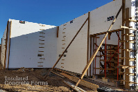 16 Foot Walls for Windsor Elementary School Tornado Safe Room in Bethany OK with Fox Blocks ICF